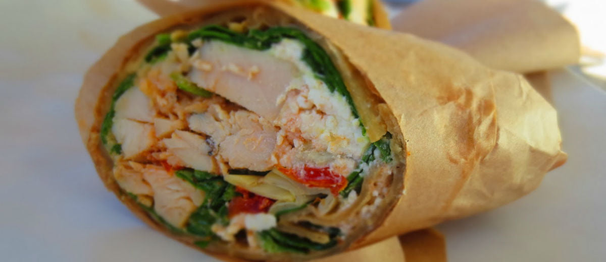 emily grilled chicken feta wrap