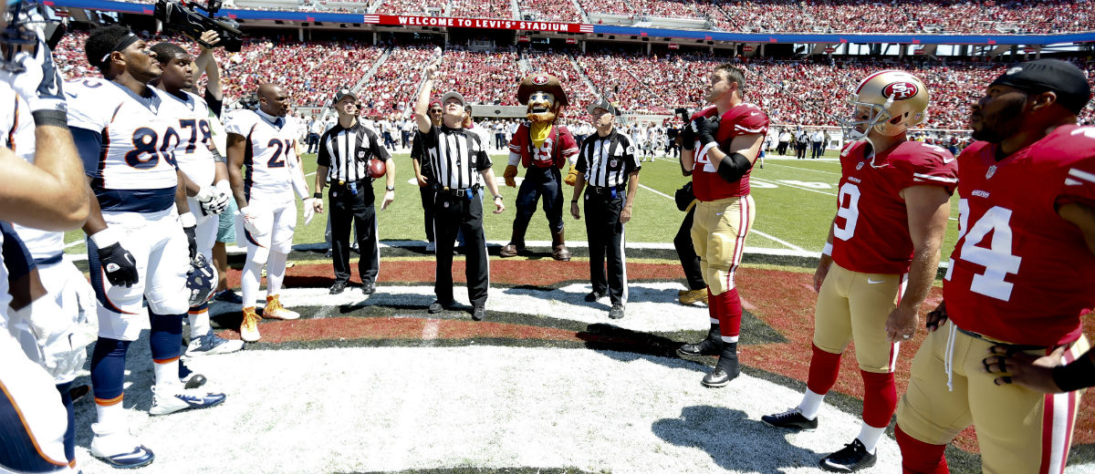football sunday workout coin toss