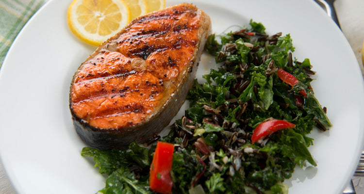 salmon and kale one pot-meal