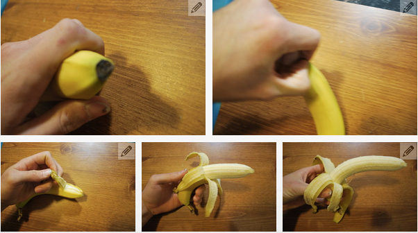 how peel a banana the right way