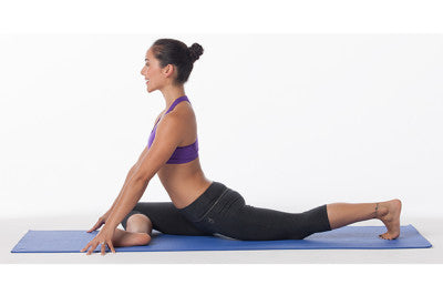 pigeon pose for piriformis stretch