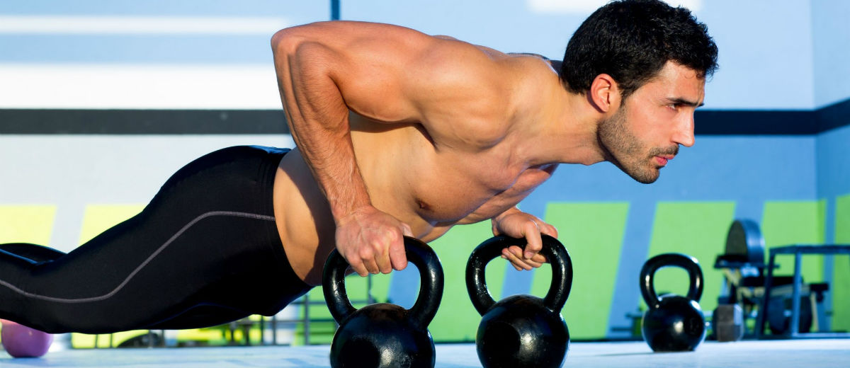 time kettlebells pushup