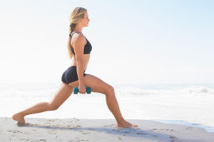 woman lunges for better glutes