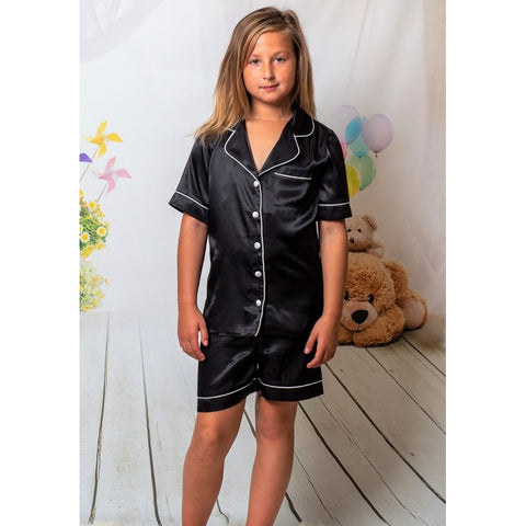 Boston Kids Satin Pjs - BB Lingerie