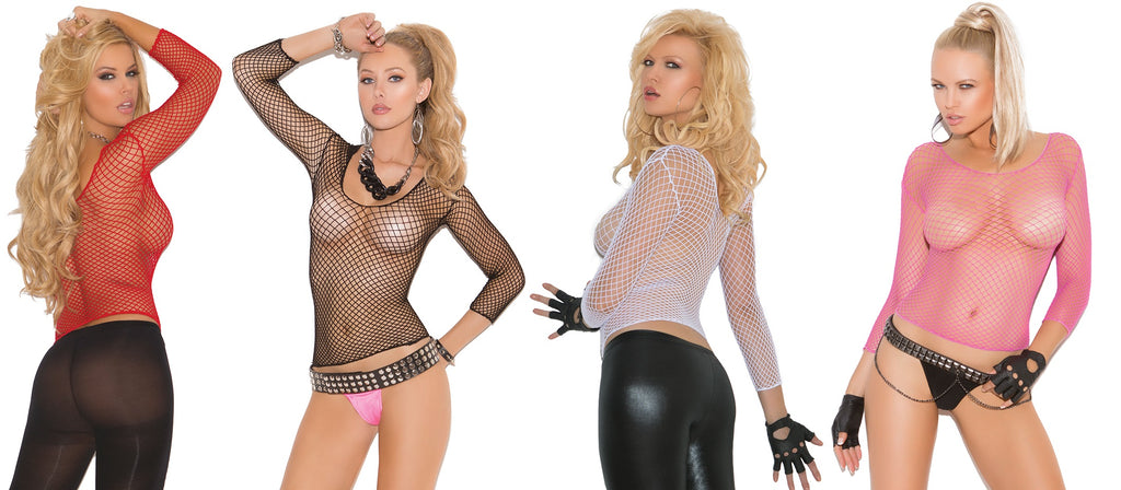 Rhian Fishnet Top - BB Lingerie