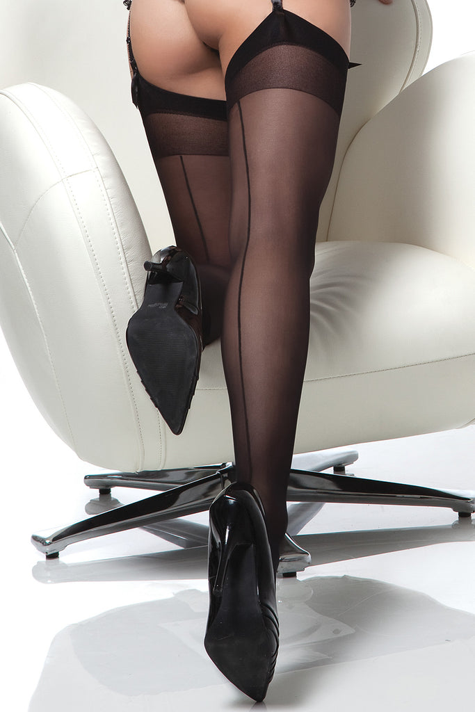 Lydia Back Seam Stockings