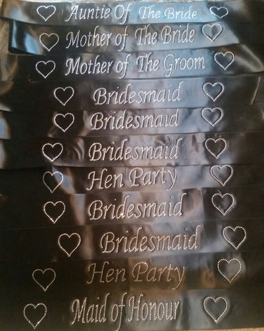 Personalised Classy Hen Do Night Bride to Be Bridal Sash your writing UK Bridalicious
