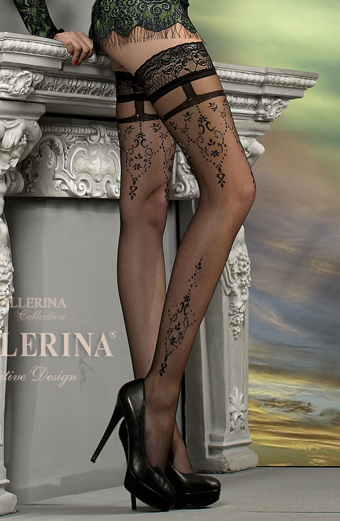 B212 Faux Suspender Sparkle Hold Ups