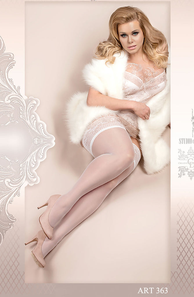 B363 Lace Top Hold Ups - BB Lingerie