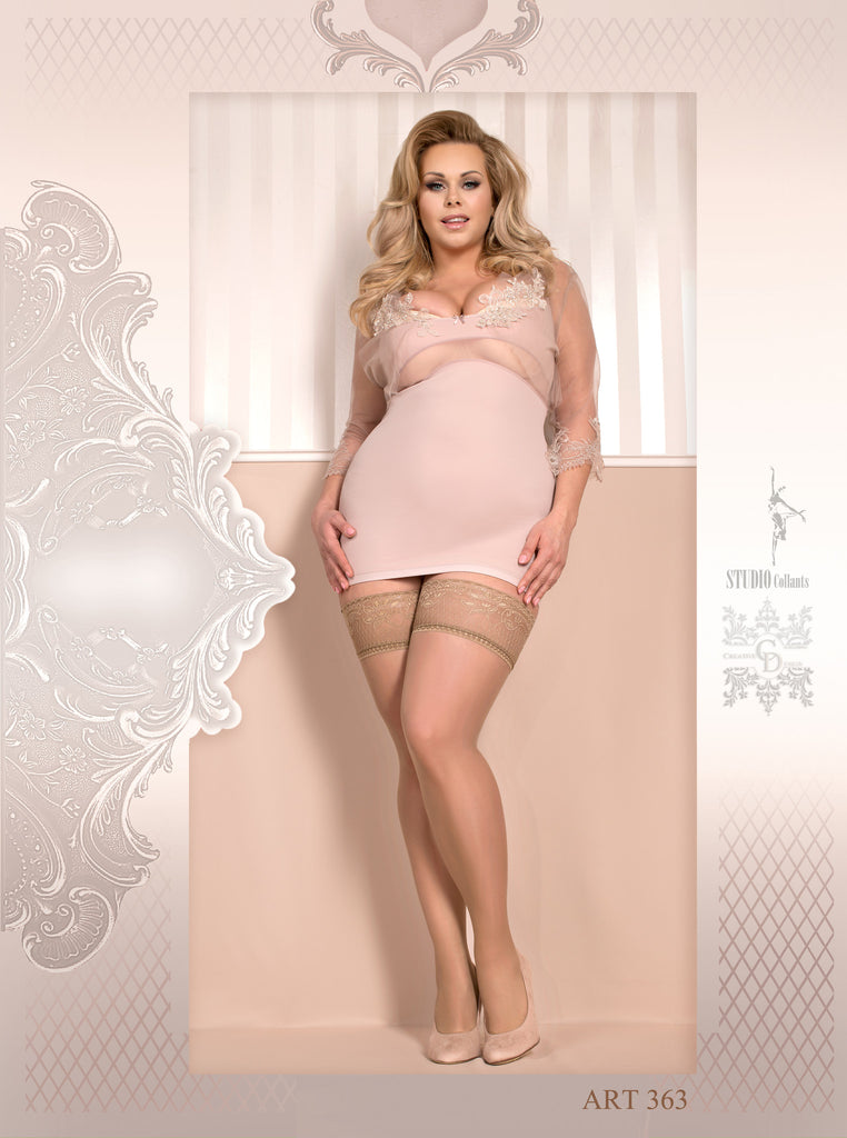 B363 Lace Top Hold Ups
