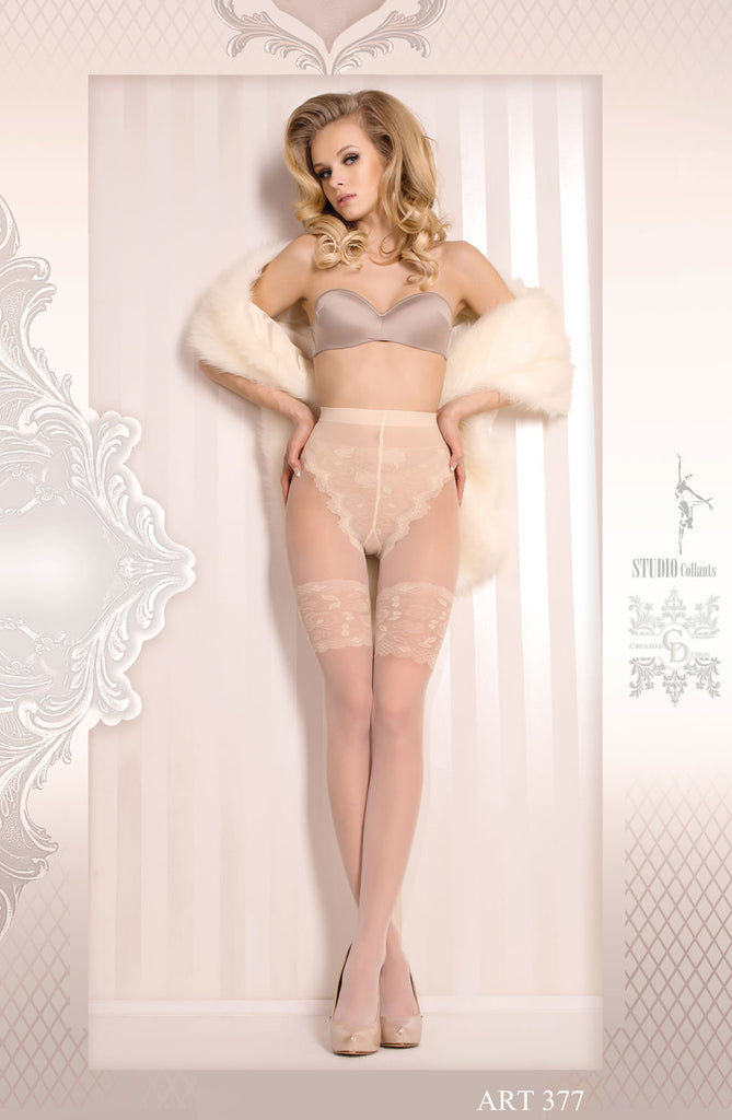 B377 Bridal Tights - BB Lingerie