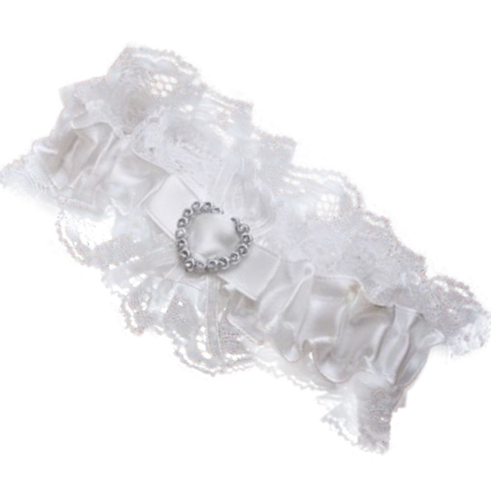 Diamantè Heart Wedding Garter