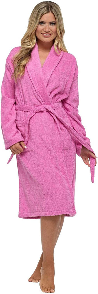 Pink Towelling Robe - BB Lingerie