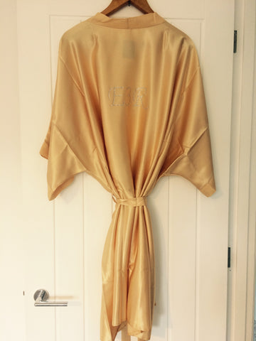 Personalised Bridal Robe (Crystals)