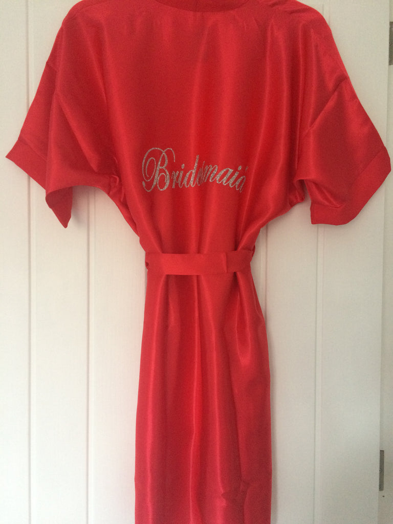 Personalised Bridesmaid Robe (Glitter)