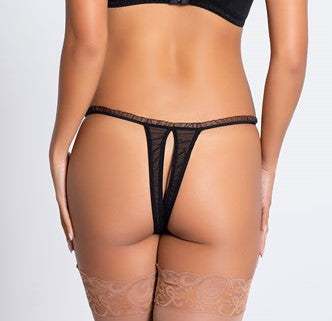 Maci Crotchless Thong - BB Lingerie