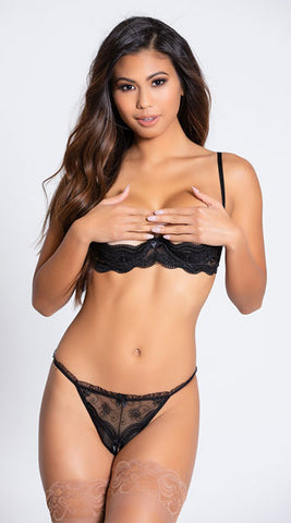 Maci Embroidered Shelf Bra - BB Lingerie