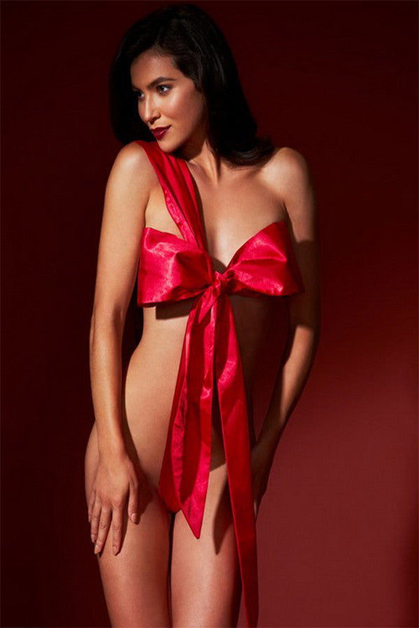 Wrapped Up Red Bow - BB Lingerie