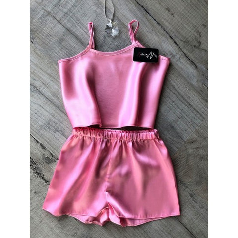 Kids Satin Cami Set - BB Lingerie