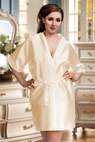 Bridal Satin Robe - BB Lingerie