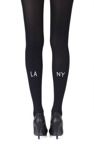 LA-NY Black Tights - BB Lingerie