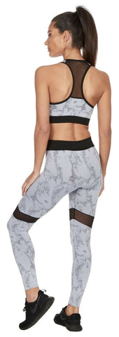Marble High Waist Gym Leggings - BB Lingerie