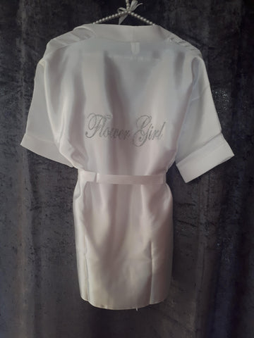 Personalised Childrens Satin Robe - BB Lingerie