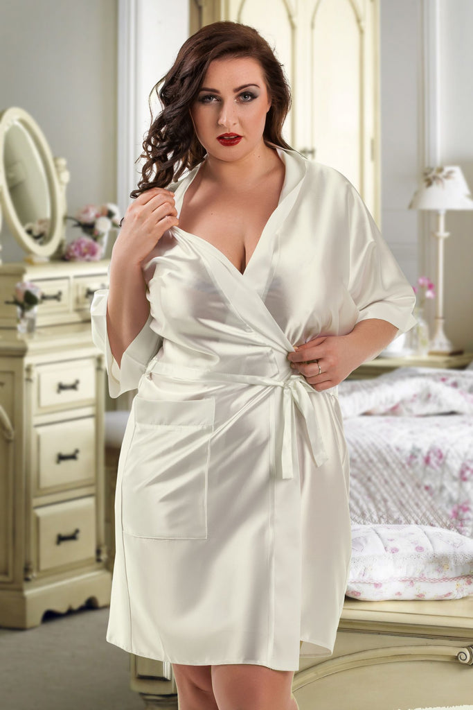 Sexy Bridal White Ivory Tabatha everyday soft cup plunge padded wirefree full coverage bra plus size stretch cup center panel wide comfort Bridalicious UK
