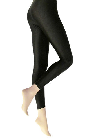 Black Shimmer Leggings - BB Lingerie