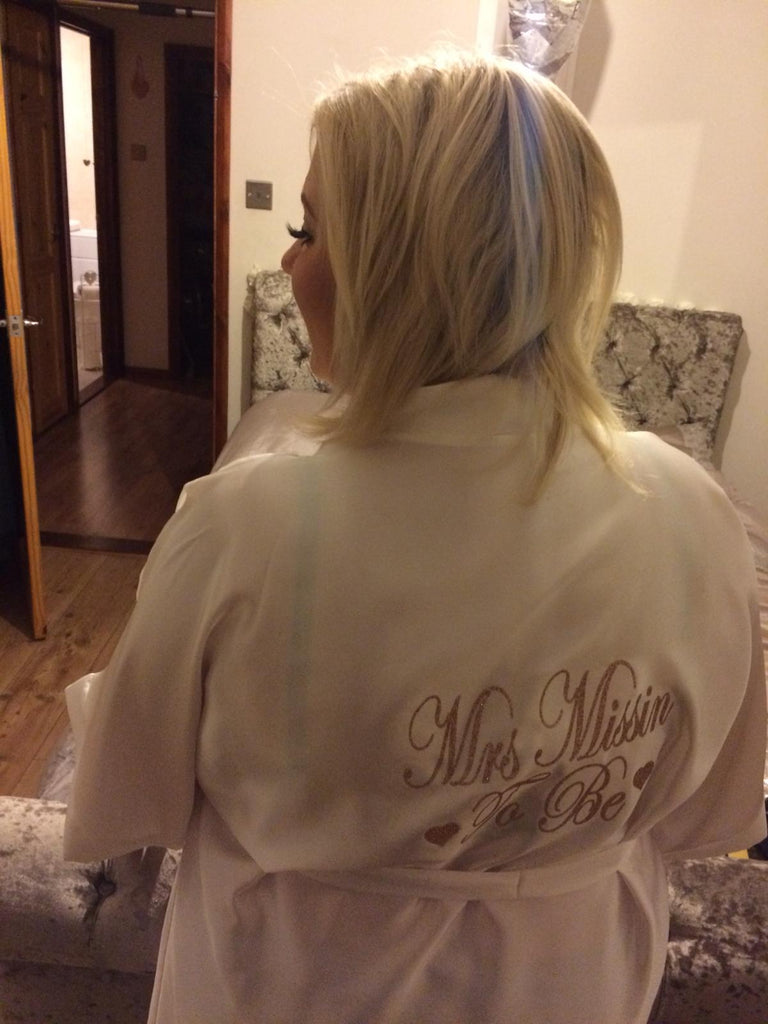 Personalised Bridal Robe (Glitter)