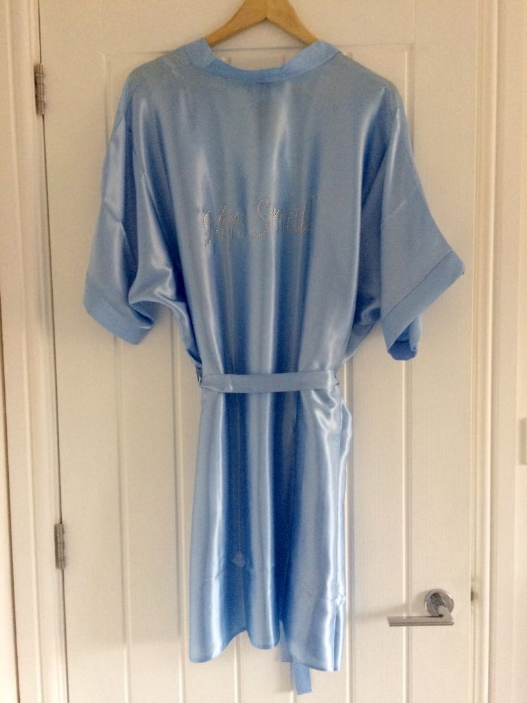 Personalised Bridesmaid Robe (Crystals)