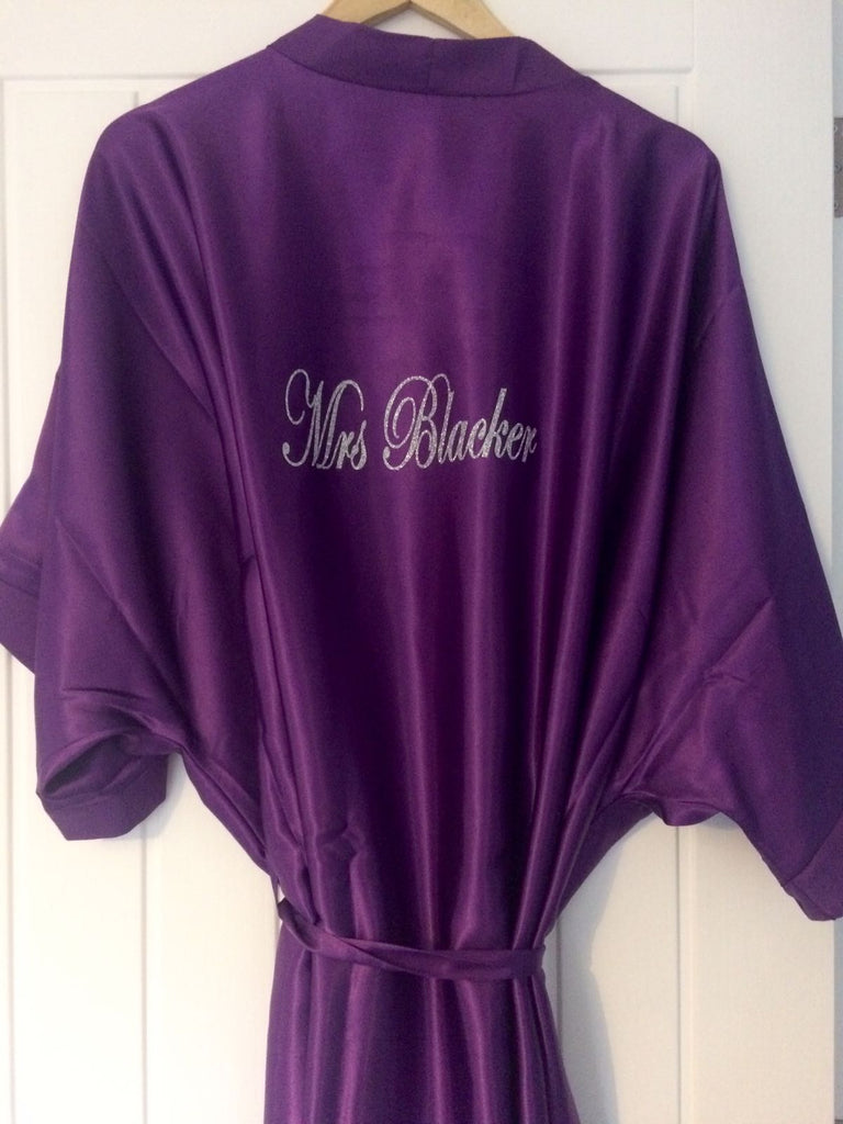 Personalised Bridesmaid Robe (Glitter) - BB Lingerie