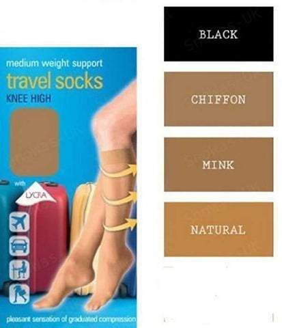 Knee High Travel Socks - BB Lingerie