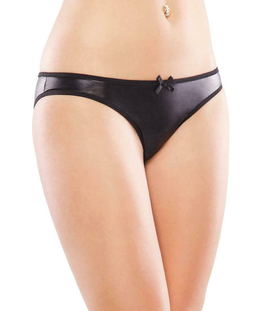Wet Look Knickers - BB Lingerie