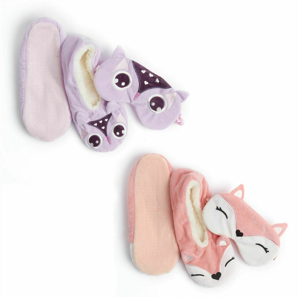 Slipper Socks & Eye Mask Set
