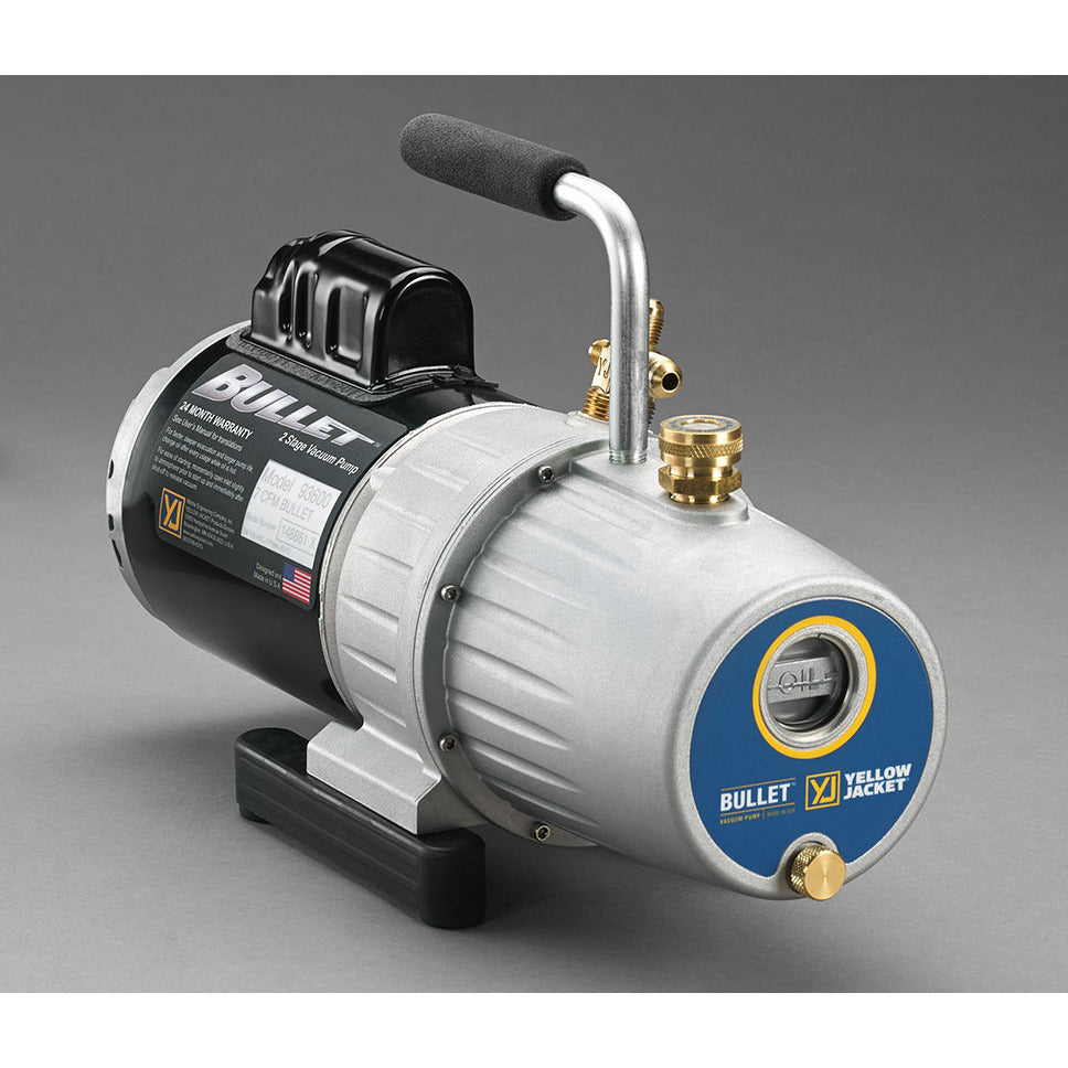 Yellow Jacket 5CFM BULLET VAC PUMP (120L) 93625-Vacuum Pumps-Yellow Jacket-Cool Tools HVAC-R