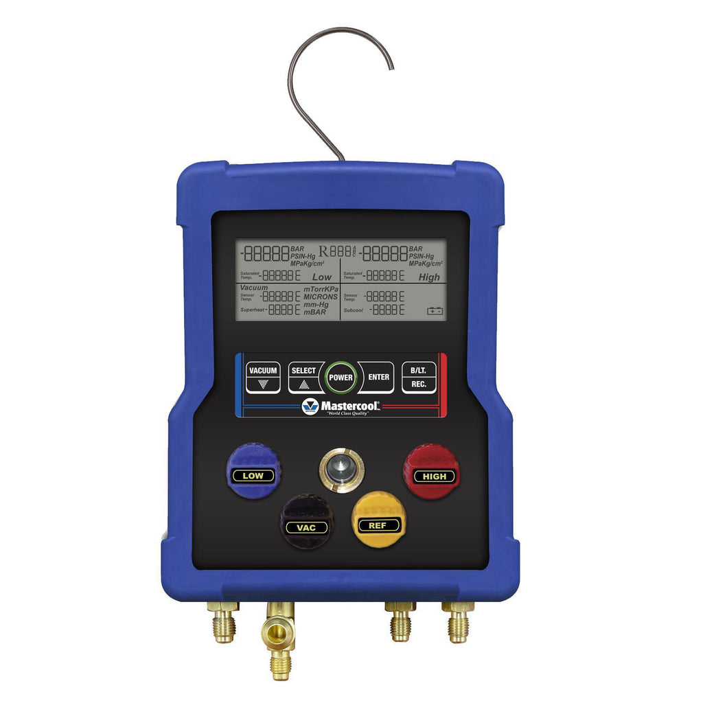 Mastercool 4 Valve Digital Manifold 99903-Refrigerant Gauges-Mastercool-Cool Tools HVAC-R