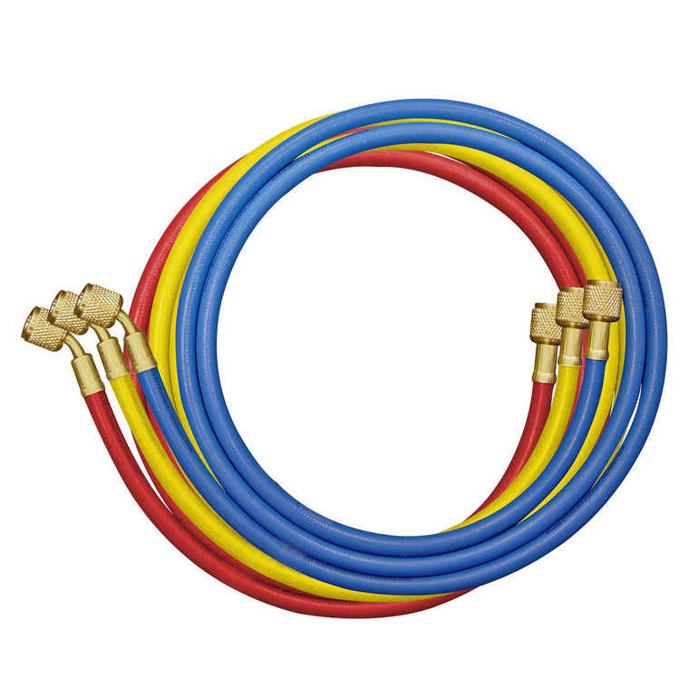 "Mastercool 180cm Hoses Blue/Red/Yellow 1/4""SAE 40372"