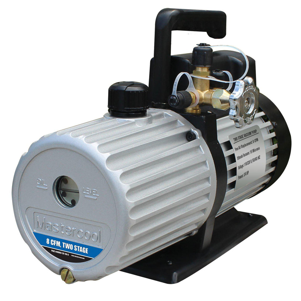 Mastercool Vacuum Pump 2-Stage 227 Litre/Min 90068-2v-220-B-Vacuum Pumps-Mastercool-Cool Tools HVAC-R
