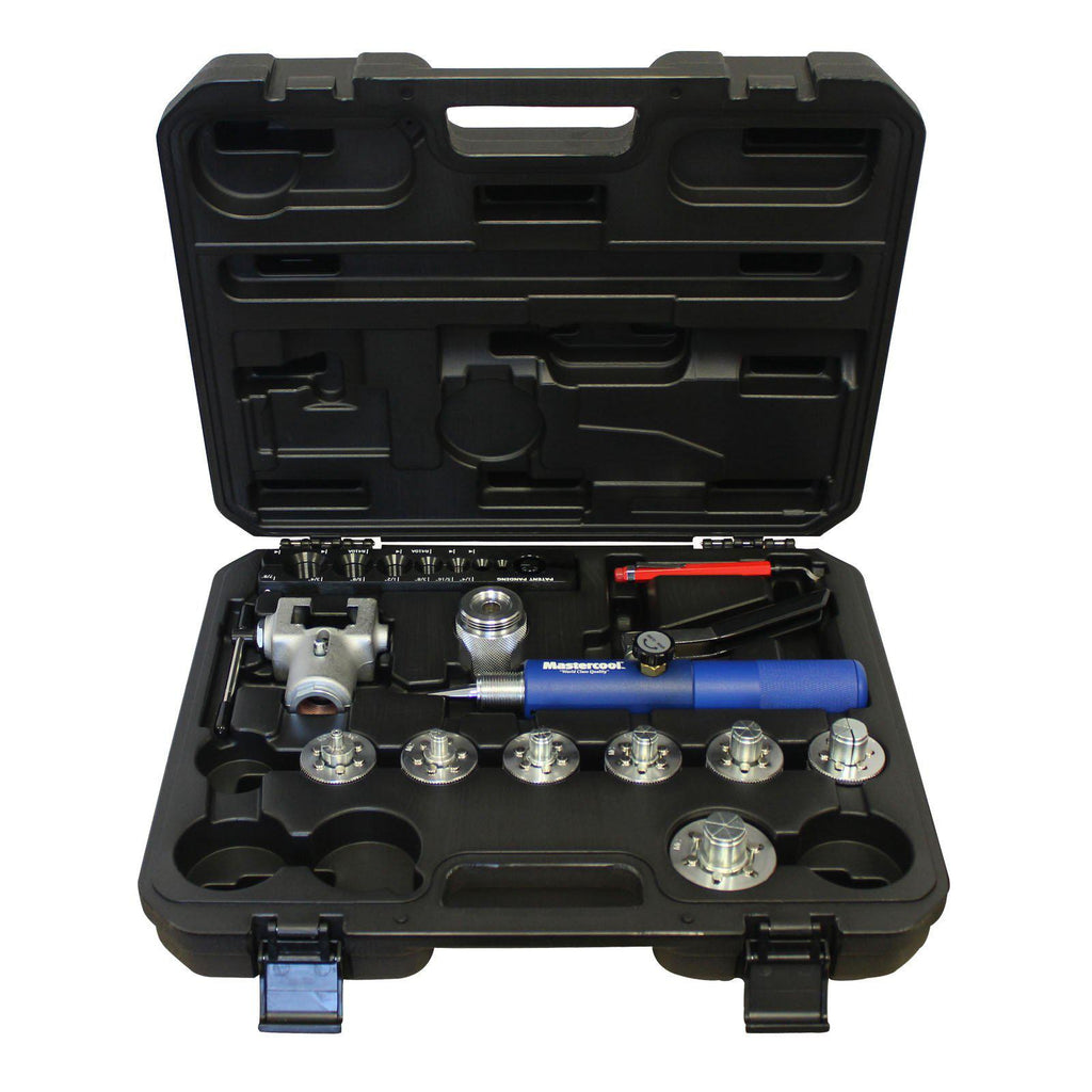 Mastercool Hydraulic Flaring and Expanding (7 Head Kit) With Flare Adapter 71675-Expander Kits-Mastercool-Cool Tools HVAC-R