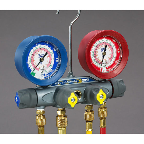 Yellow Jacket BRUTE MANIFOLD 22/134/404A 46145-Refrigerant Gauges-Yellow Jacket-Cool Tools HVAC-R