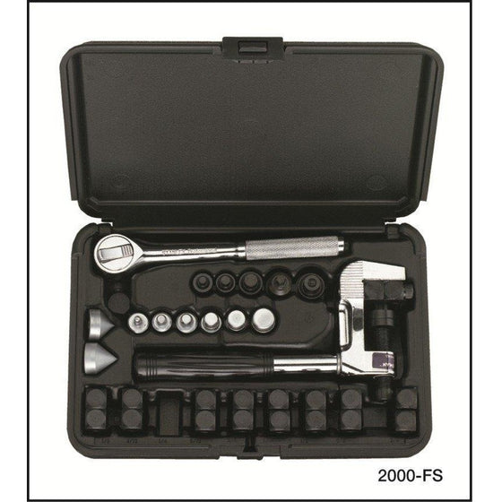 Imperial FLAREPRO™ 4-in-1 Flaring & Swaging Kit 37° & 45° : Double 2000-FS-Flaring and Swaging Kit-Imperial-Cool Tools HVAC-R