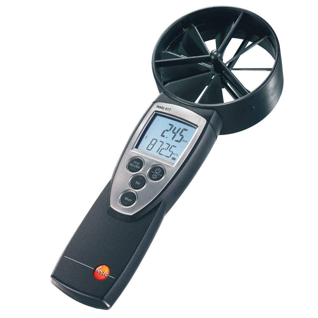 Testo 417 Large 100mm Vane Anemometer-Testo-Cool Tools HVAC-R