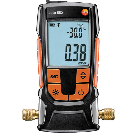 Testo 552 Vacuum Gauge with Bluetooth® - 05605522-Vacuum Gauges-Testo-Cool Tools HVAC-R