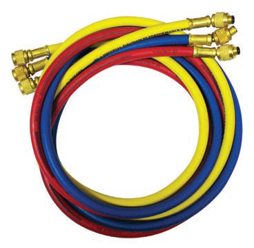 "Imperial 90cm Hose Set of 3 - 1/4"" to 5/16"" IMP-853-MRS-Refrigerant Hoses-Imperial-Cool Tools HVAC-R"