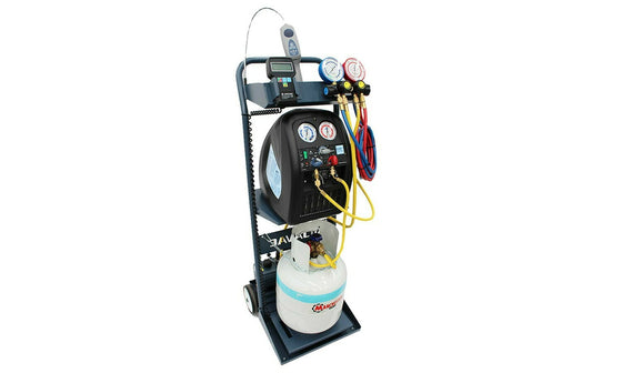 Javac Automotive Air Conditioning Kit - Charging, Recovery and Evacuation Station 45L Vacuum Pump AASPAK