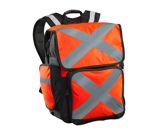 HI-VIS 34 Litre Safety Backpack - Orange - CARI11802O-safety-System Control Engineering-Cool Tools HVAC-R