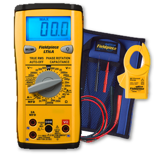 Fieldpiece True RMS digital multimeter with phase rotation LT16A-Fieldpiece HVAC Tool-Fieldpiece-Cool Tools HVAC-R
