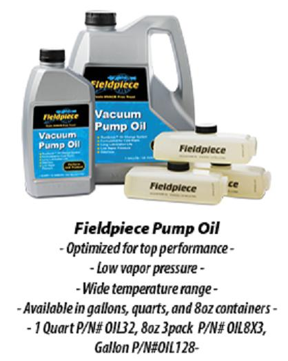 Fieldpiece High Grade Vacuum Pump Oil-Vacuum Pump Oil-Fieldpiece-Cool Tools HVAC-R