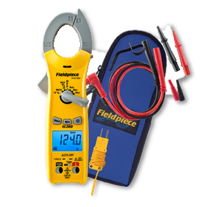 Fieldpiece Compact Clamp Meter SC260-Fieldpiece-Cool Tools HVAC-R